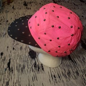 Neon vintage retro 80's bedazzled 5 panel hat